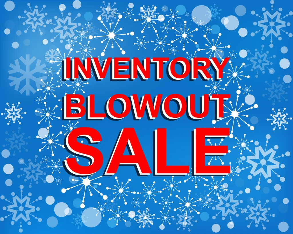 post-holiday inventory sales